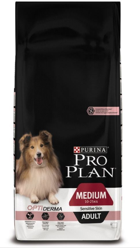 Pro Plan Cane Adult Medium Sensitive Skin Salmone & Riso Optiderma