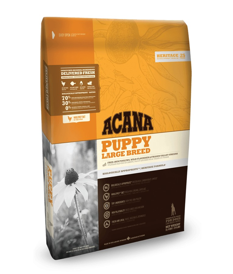 Acana Heritage Puppy Large Breed per cane