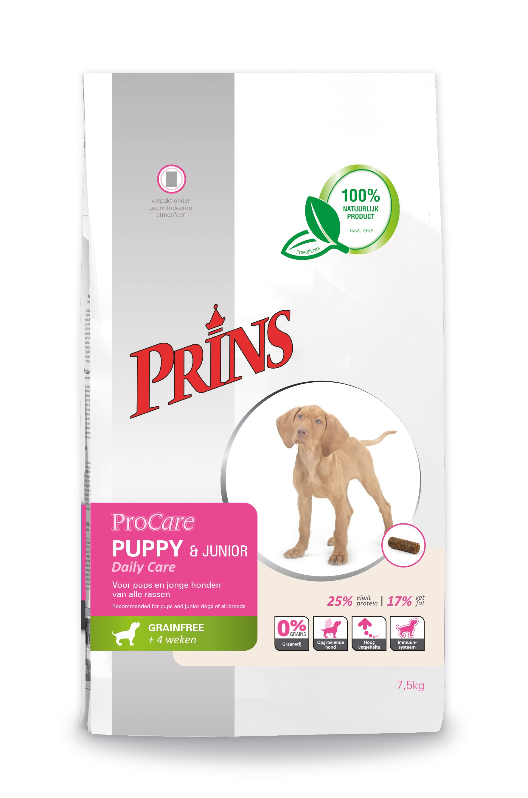 Prins ProCare Grainfree Puppy & Junior Daily Care per cane