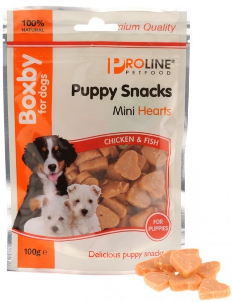 Boxby Mini Hearts snack per cane