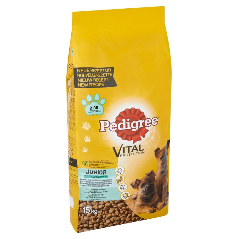 Pedigree Cane Junior Maxi, con pollo e riso