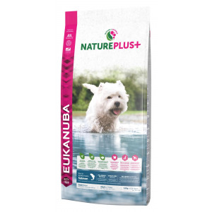 Eukanuba NaturePlus+ Cane Adulto Small, con Salmone