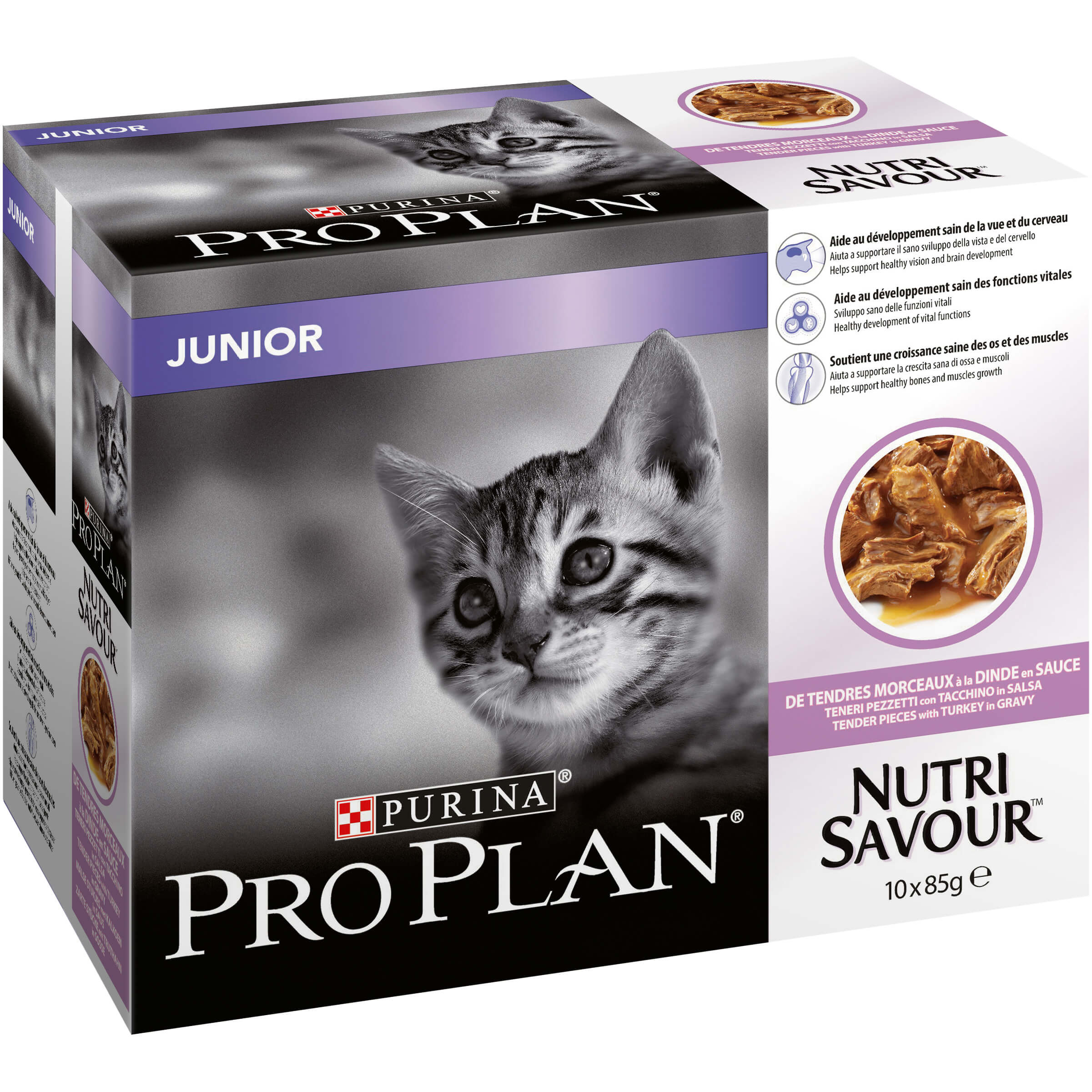 Pro Plan Junior Tacchino in Salsa bustine – 10 x 85 gr