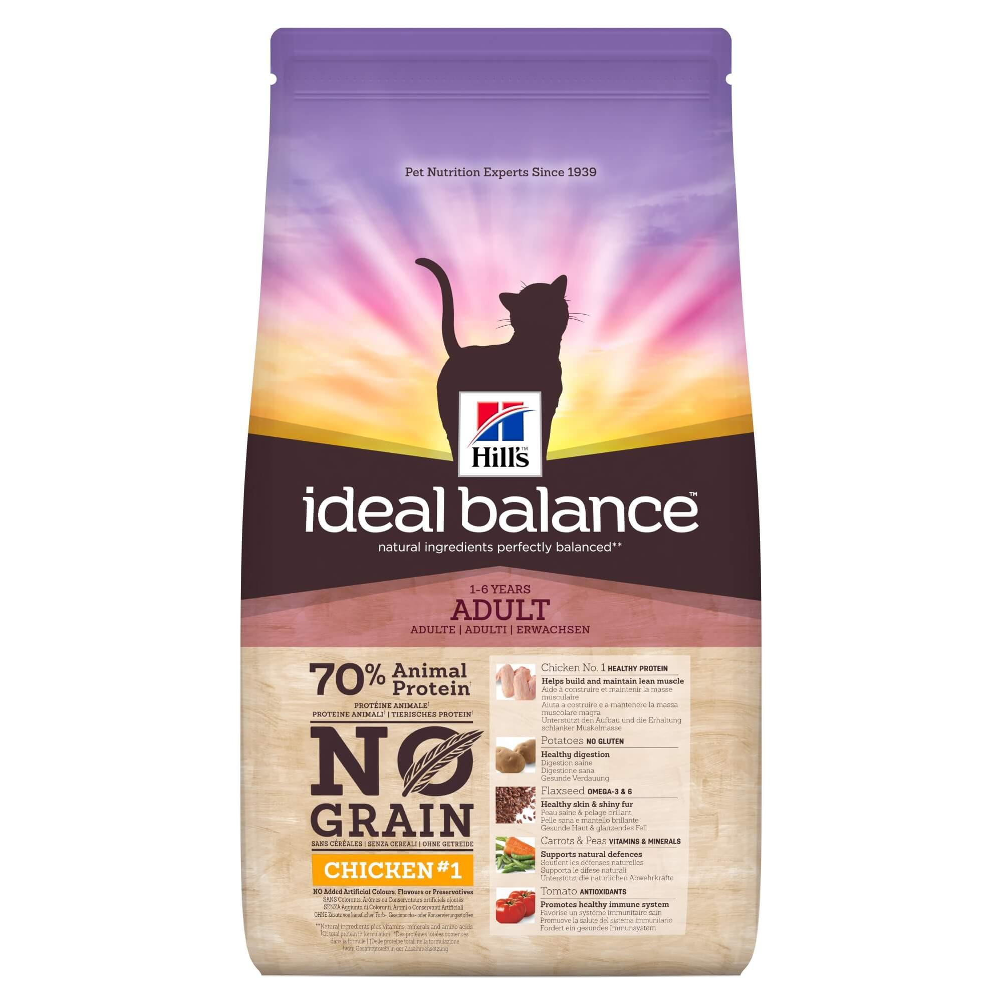 Hill's Ideal Balance Adult No Grain con pollo e patate per gatto