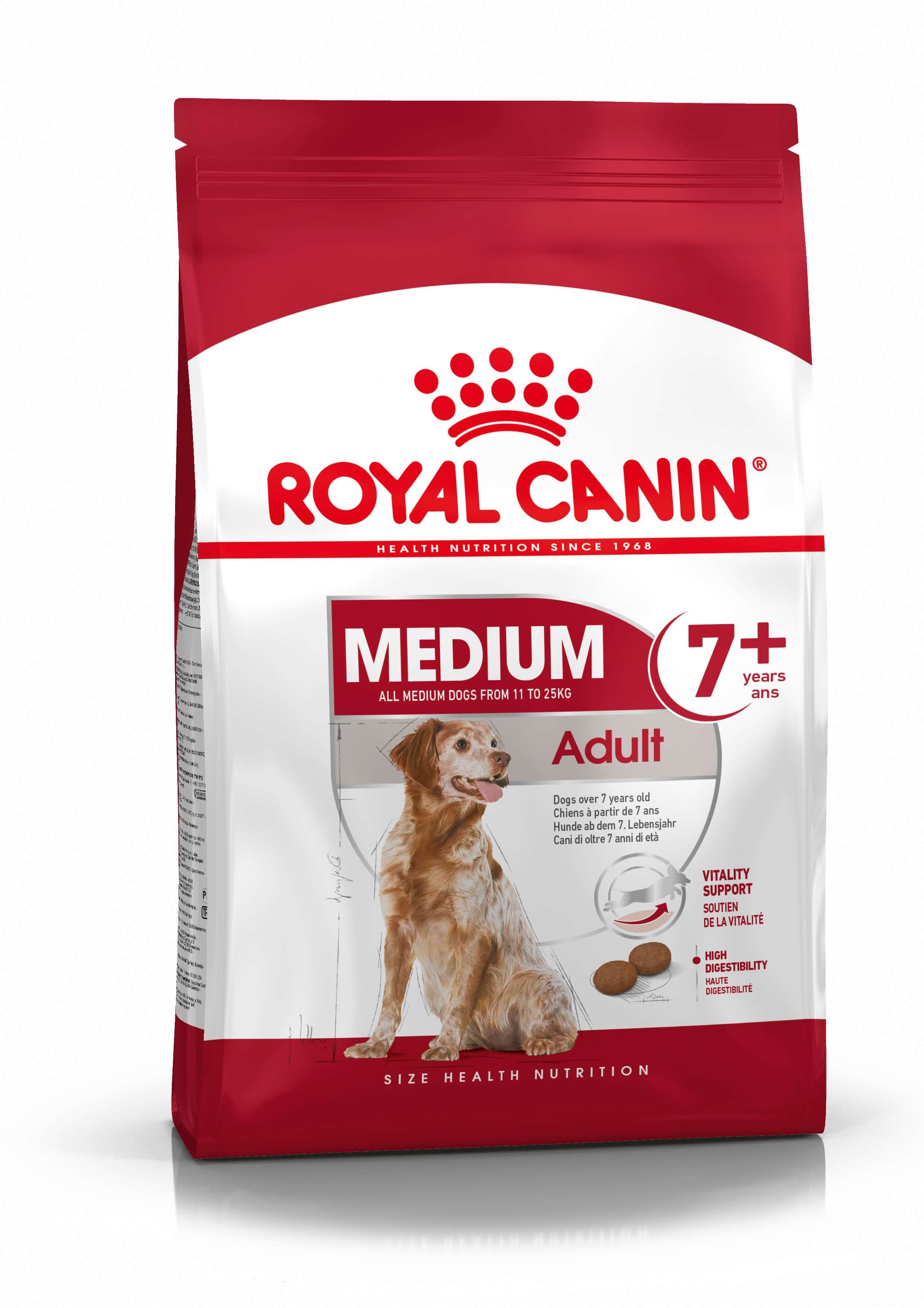 Royal Canin Medium Adult 7+ per cane