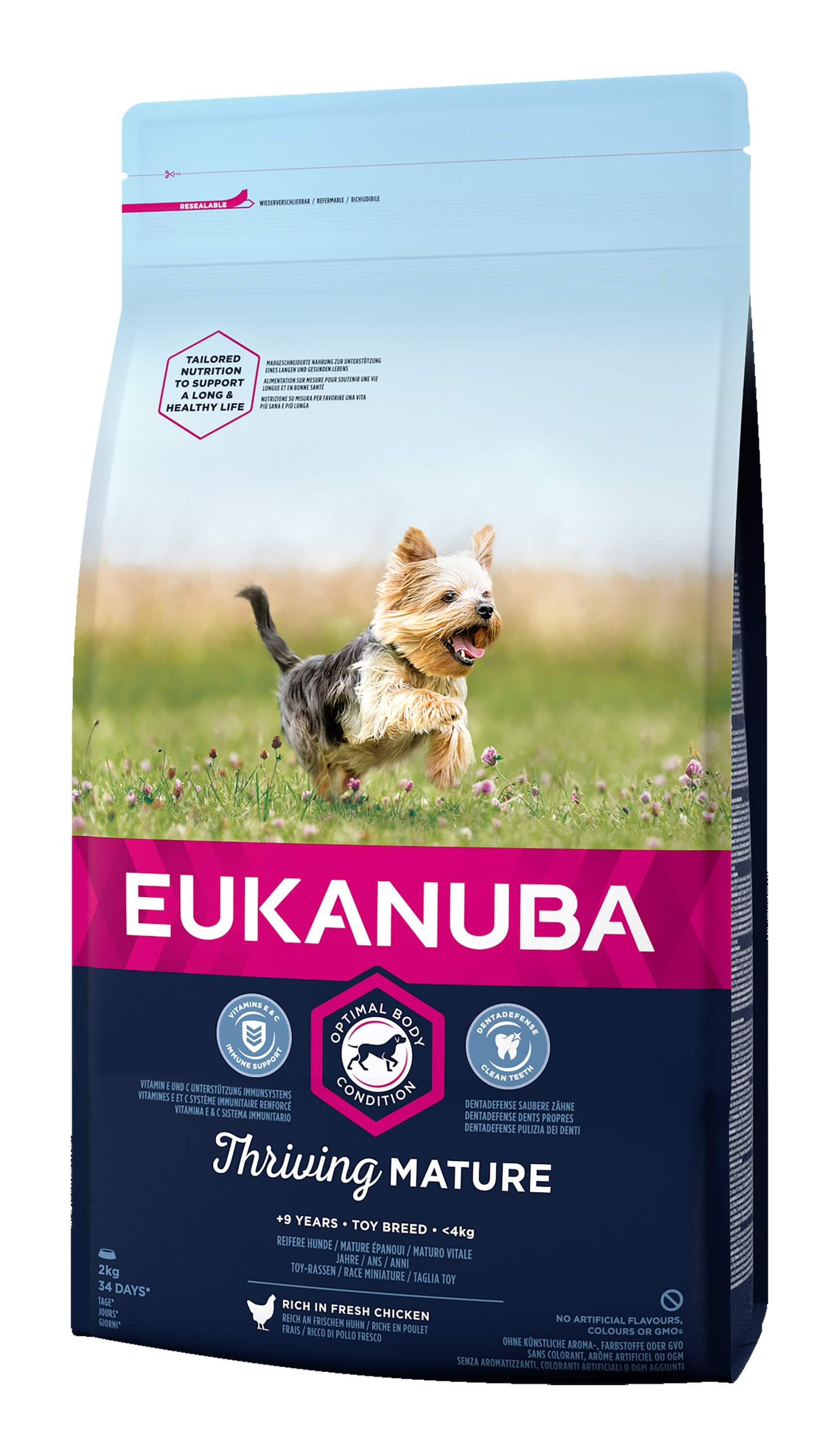 Eukanuba Thriving Mature Toy Breed kip hondenvoer
