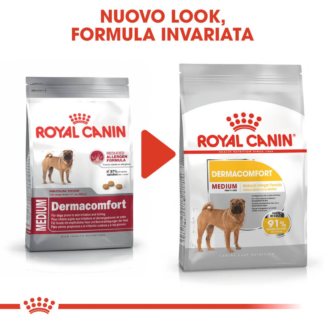 Royal Canin Medium Dermacomfort per cane