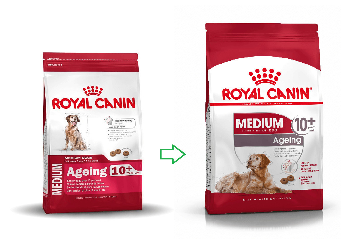 Royal Canin Medium Ageing 10+ per cane