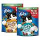 Felix Party Mix Original + Seaside Snack per gatti (2x200g)