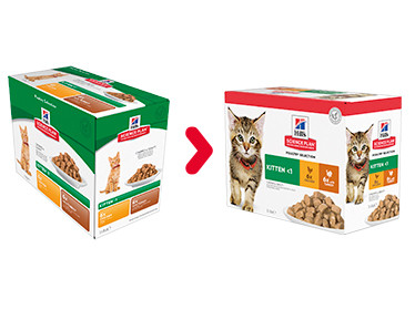 Hill's Kitten Poultry Selection umido per gatto