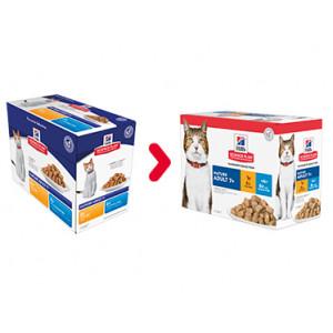 Hill's  Mature Adult 7+  multipack con pollo e pesce per gatto 85 gr