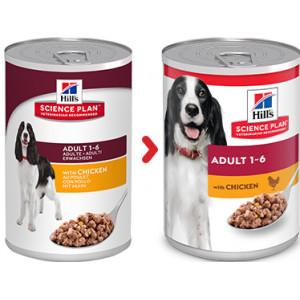 Hill's Adulto con pollo per cane (scatola 370 g)