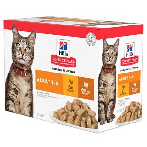 Hill's Adult Poultry Selection Combi cibo umido per gatto