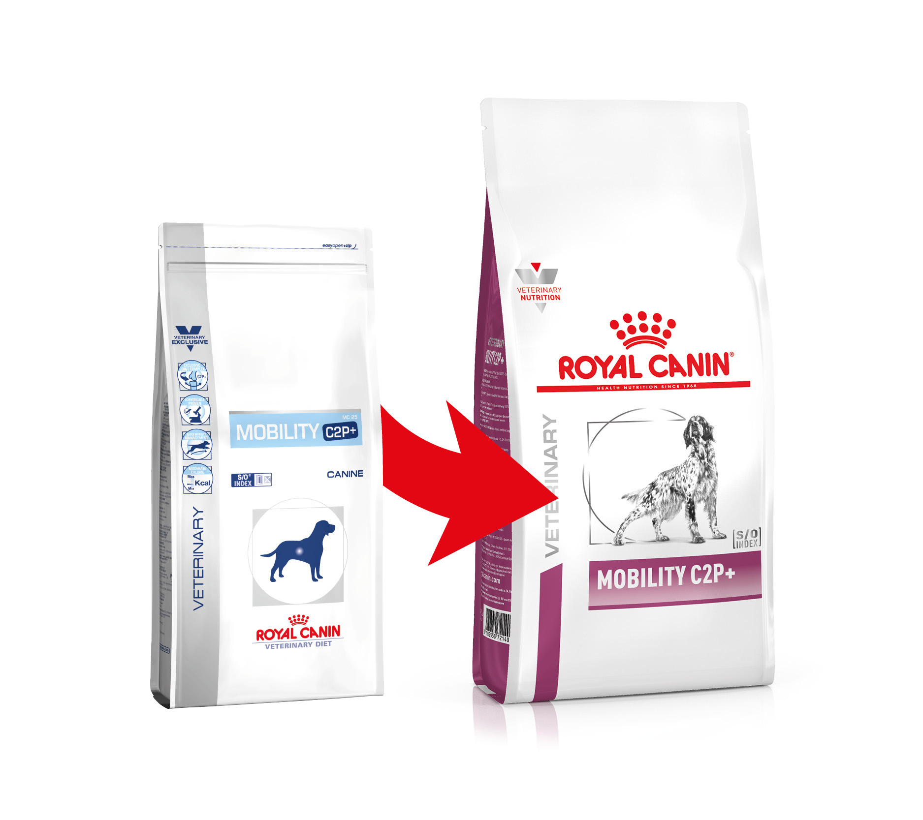 Royal Canin Veterinary Mobility C2P+ per cane