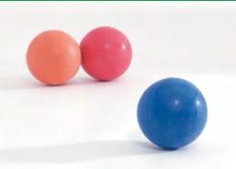 Massief rubberen bal voor de hond
