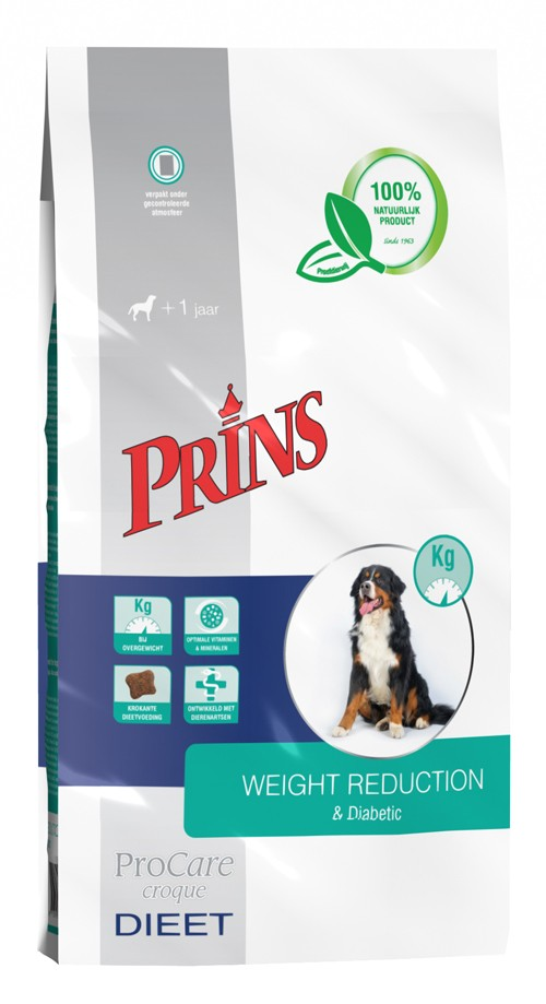 Prins Procare Croque Dieet Weight Reduction & Diabetic voor de hond